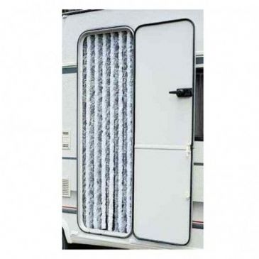 Arisol CHENILLE TYPE Motorhome Caravan Door CURTAIN GREY & WHITE